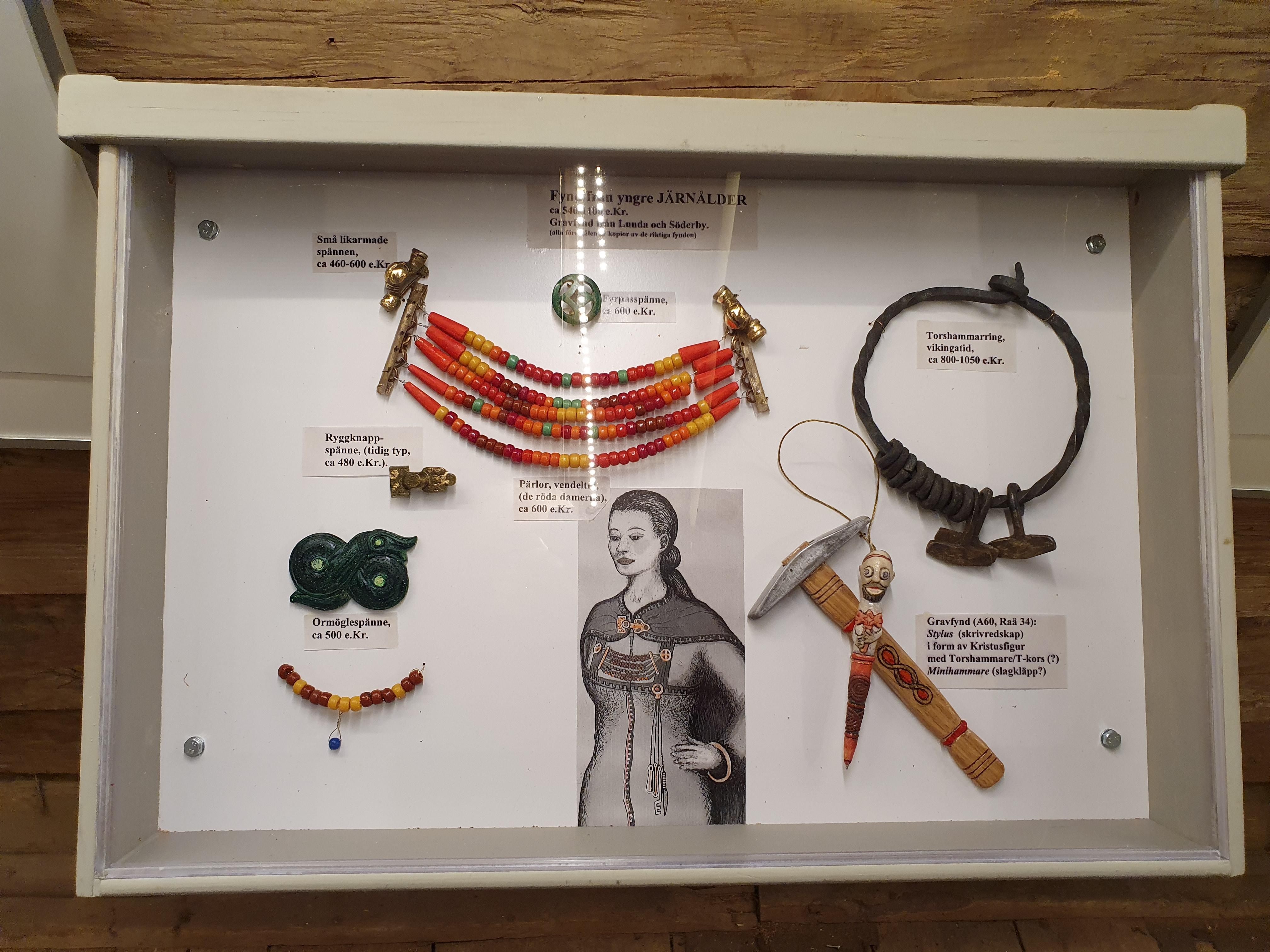 Smycken med vikingastuk